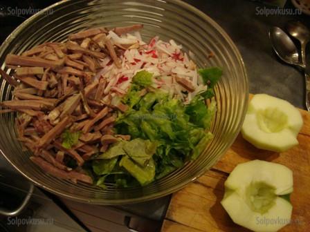 рецепты салатов с говядиной или свининой